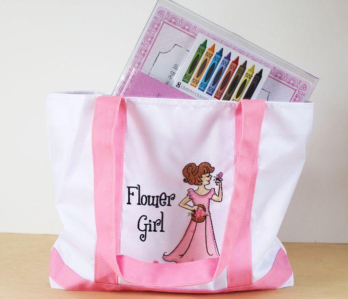 Creative Flower Girl Gifts Flower Girl Tote ($14) - www.ThePaisleyBox.com