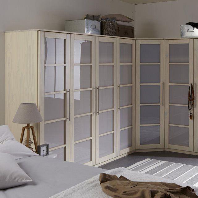 Armoire 4 portes, dressing, pin, H180 cm, Bolton La Redoute