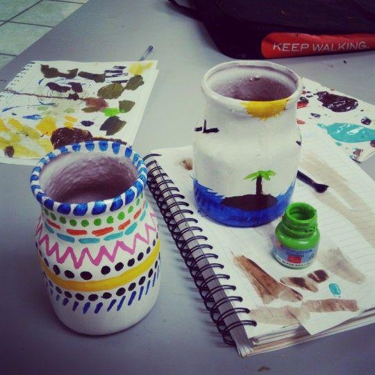 #jarrones #colores #cute #decorar