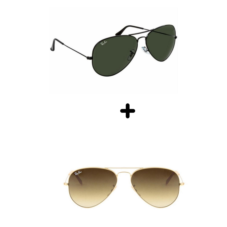 848d432ad1b2c  OFERTA IMPERDÍVEL SÓ HOJE  Kits 2 Óculos De Sol Importado Aviador Feminino  Masculino
