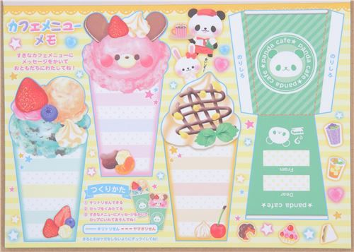 cute animal cafe memo and Origami block Note Pad by Crux 5