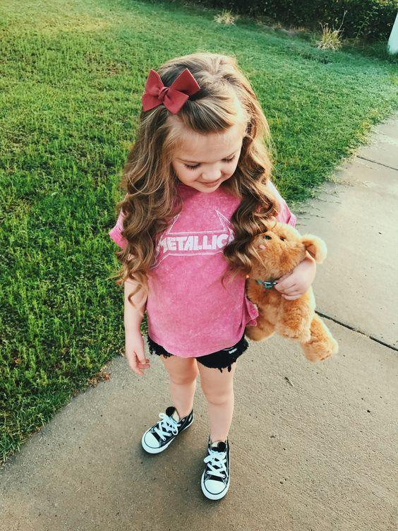 55 Nette und einfache Frisuren für Kinder #girlhairstyles