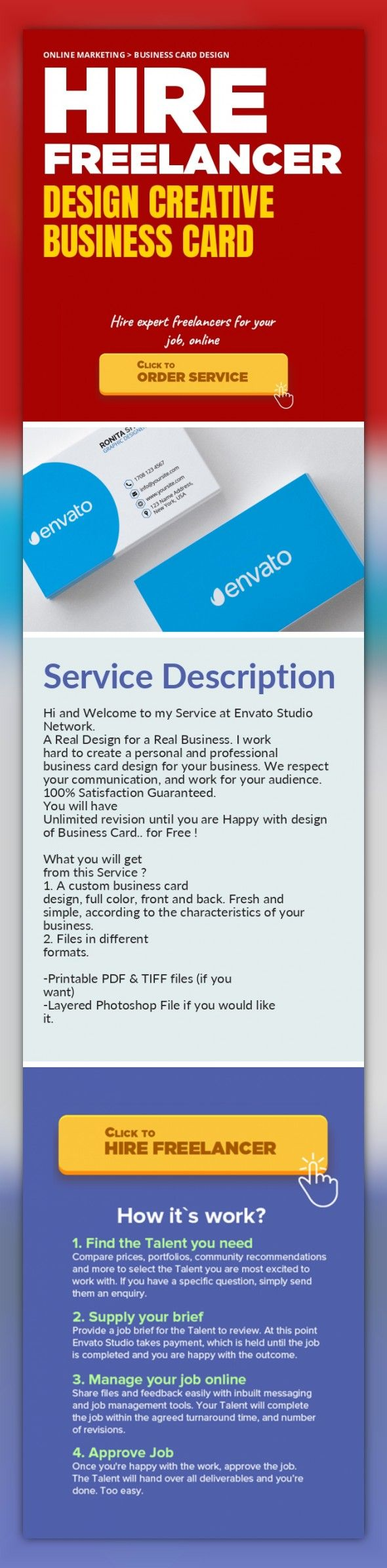 Design Creative Business Card Online Marketing, Business Card Design ...