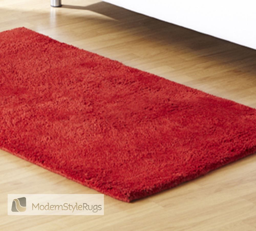 dakota plain red modern style rugs