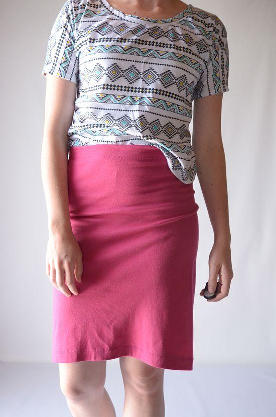 Tutorial: Single Seam Skirt | Rock nähen, Rock und Kostenlos