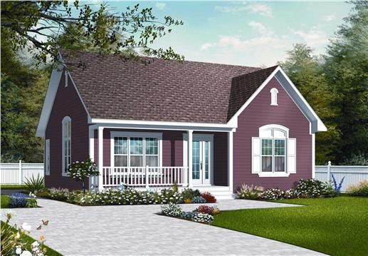 Country House Plan 2 Bedrms 1 Baths 1113 Sq Ft 126