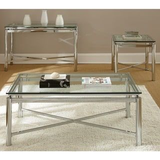 Greyson Living Natal Chrome And Glass Sofa Table Natal Sofa Table