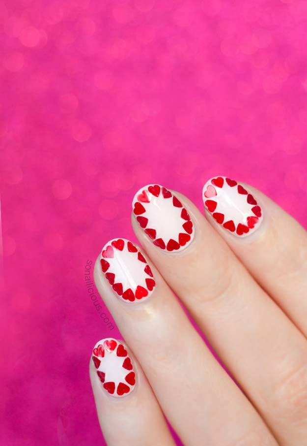 35 Fabulous Valentine Nail Art Ideas | Nail heart, Diy manicure and ...