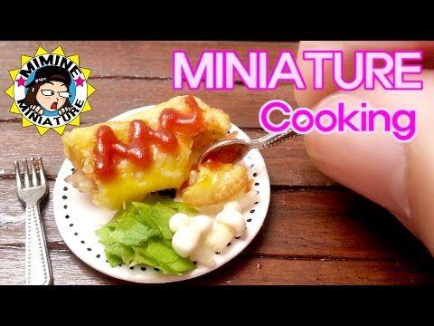 미니어쳐 진짜요리! 오므라이스 Miniature Cooking - Omelet Rice /미미네미니어쳐 - YouTube