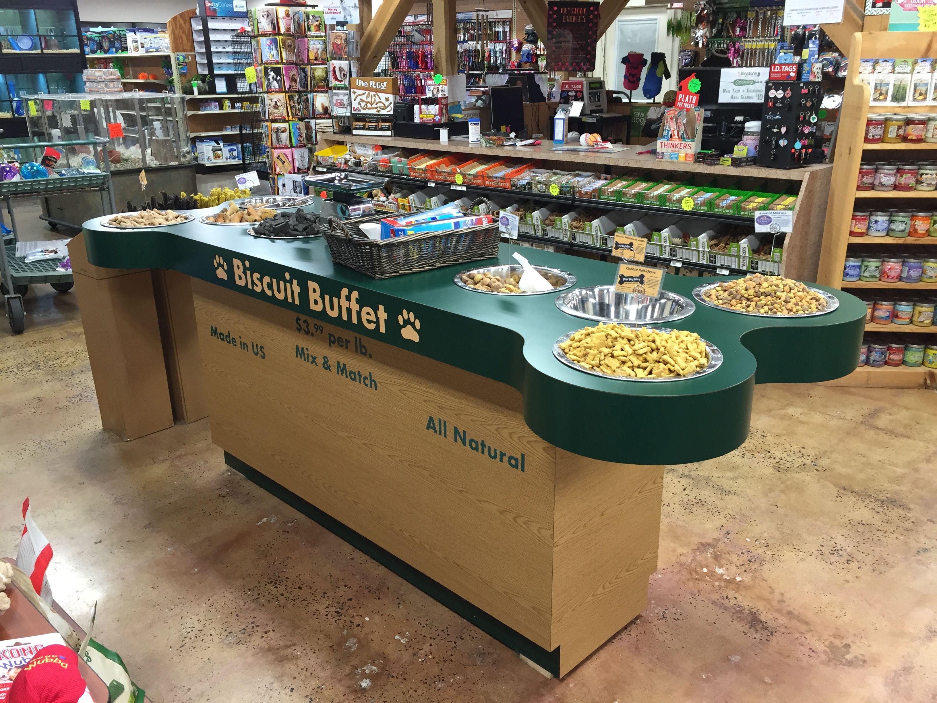 Custom Wood Dog Biscuit Display From Handy Store Fixtures Pet