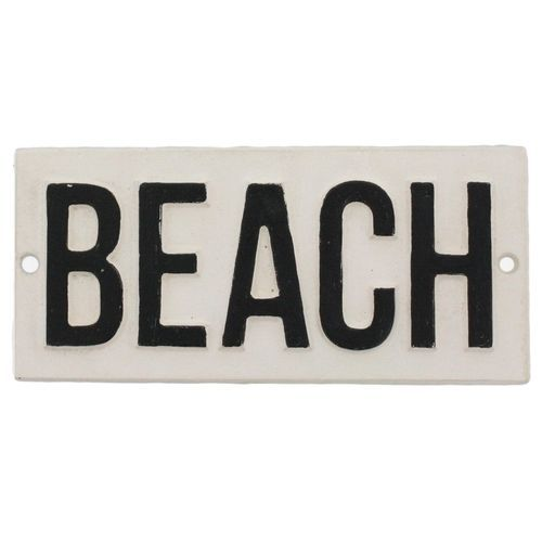 Cast Iron Beach Sign