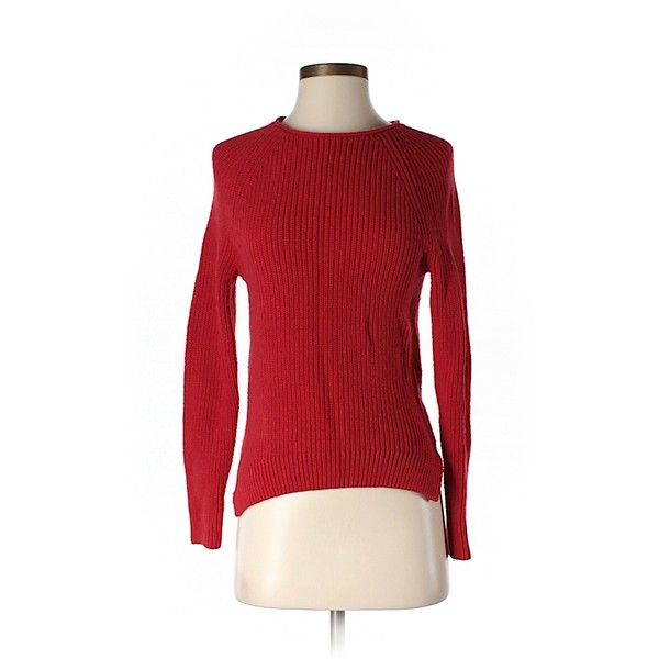 Pre-owned Gap Pullover Sweater ($14) ❤ liked on Polyvore featuring tops, sweaters, red, gap tops, pullover tops, pullover sweater, red top and sweater pullover