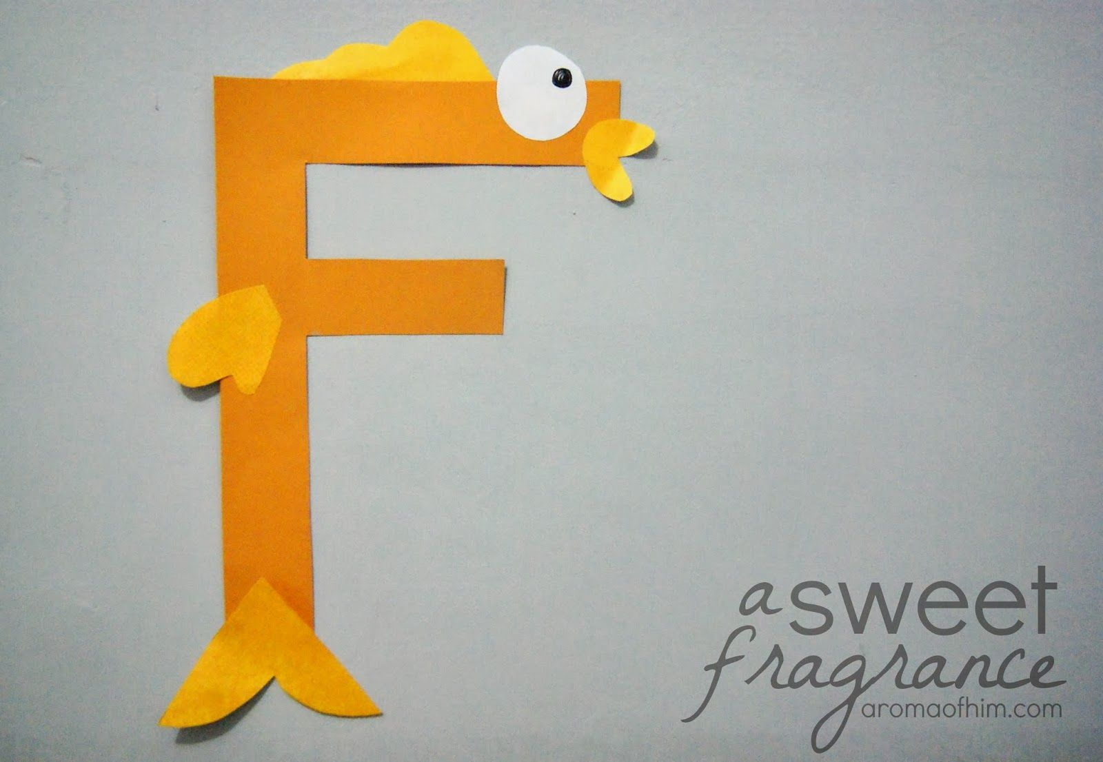 Letter Art Activity F Fish