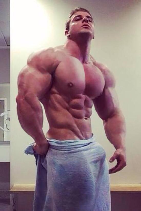 Muscled jock jizz all over bloke