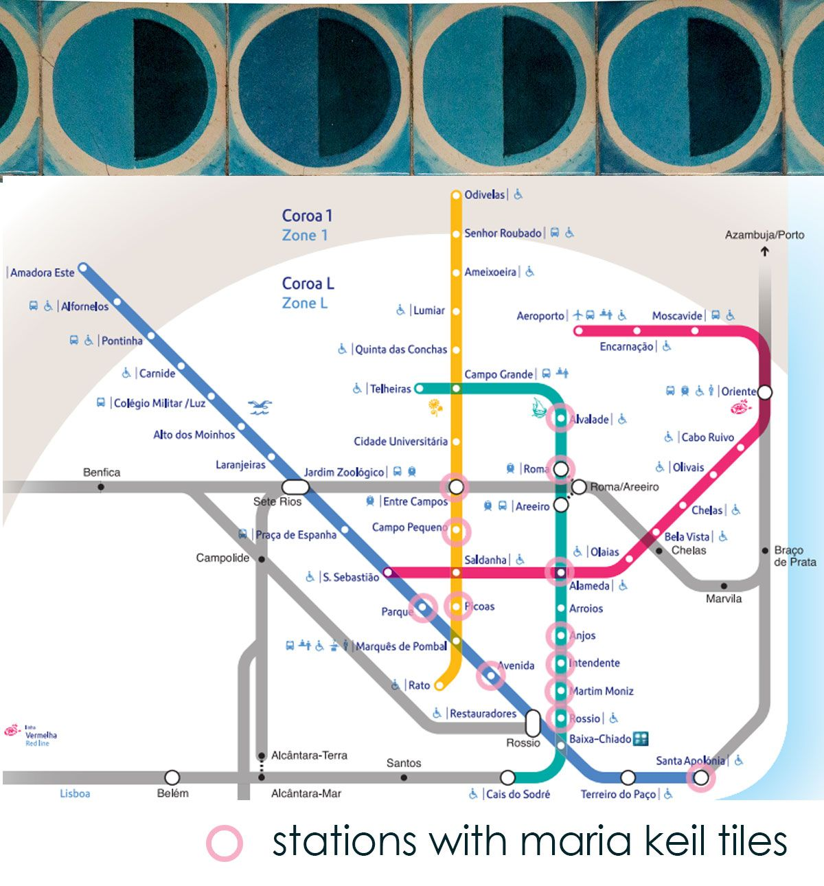 Metro Map Lisbon Portugal.Maria Keil Tiles Lisbon Subway Info By Skinny Laminx Tile