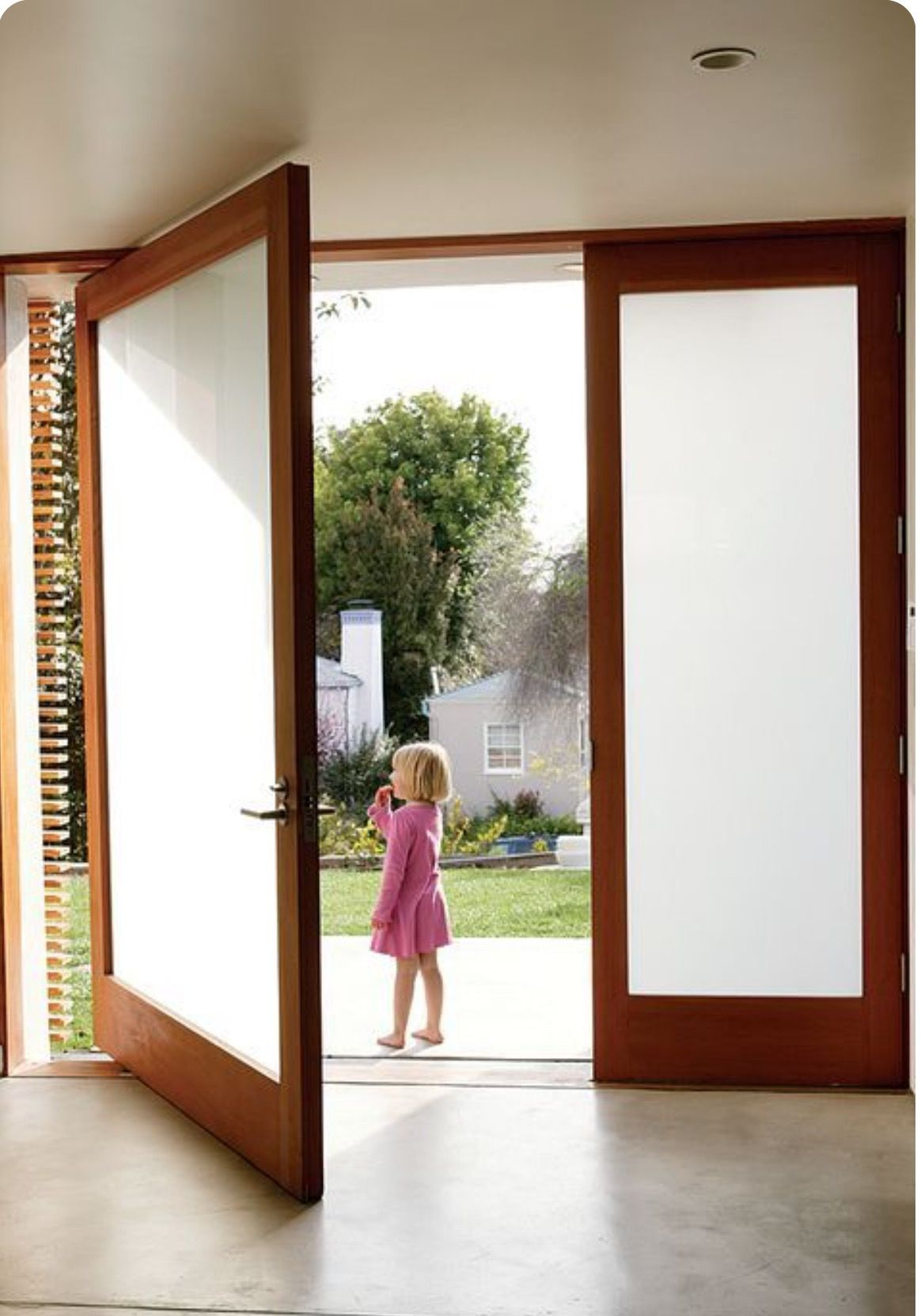 Modern Frosted Double Glass Doors Full Glass Front Door Door