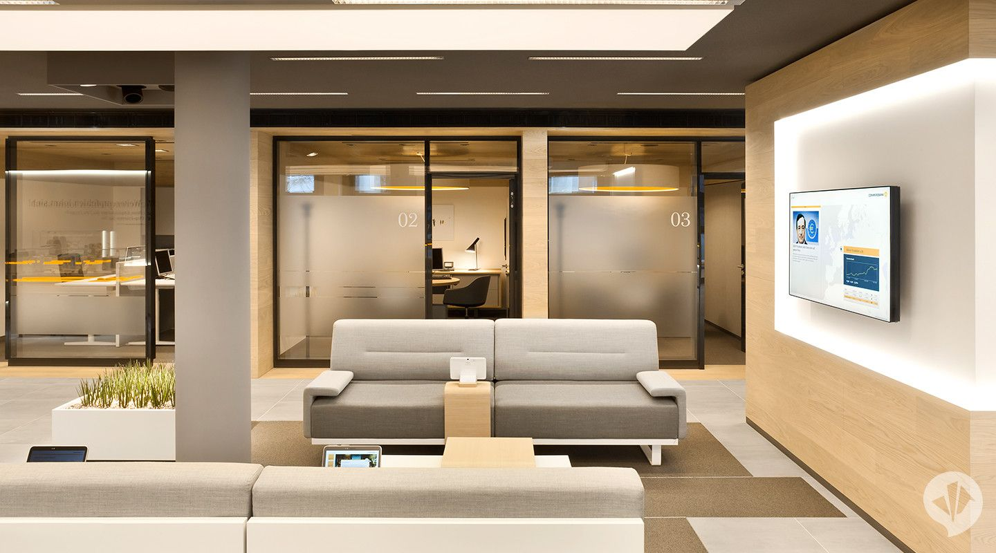 Commerzbank Flagship Branch Concept With Images Bank Interior