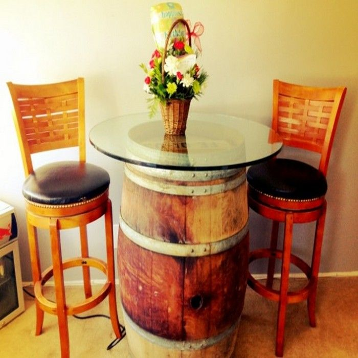 DIY Wine Barrels Home Decor Ideas