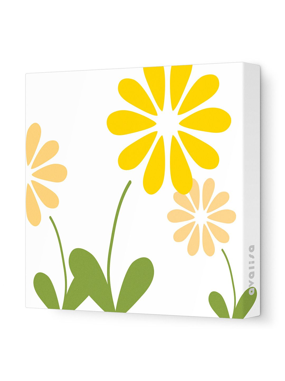 Pink Simple Floral Wall Art Stretched Canvas | Floral wall art ...