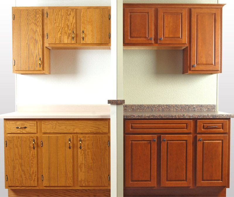 Pin By Connie Nye On DIY Pinterest Refacing Kitchen Cabinets Simple Reface Kitchen Cabinets Before And After