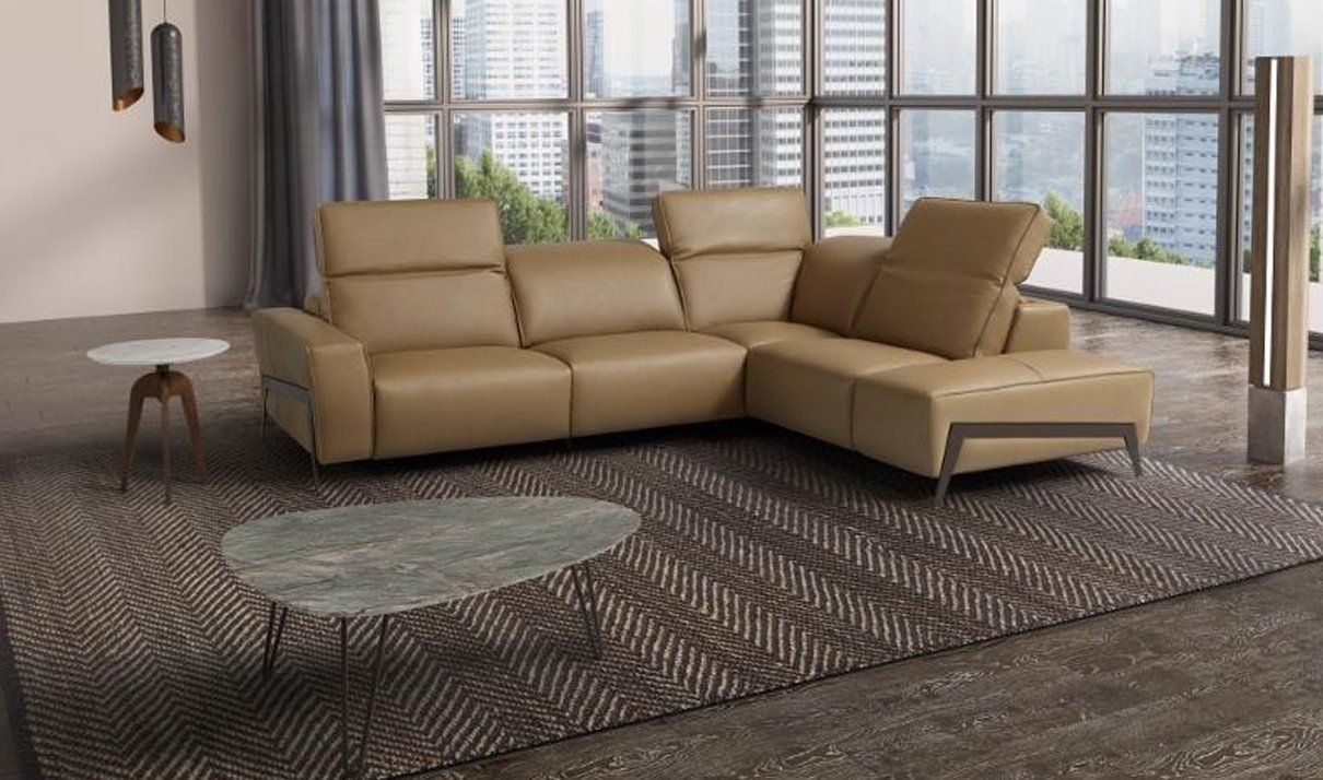 Jandm Furniture Ocean Italian Leather Right Facing Sectional Sofa In Miele Find Out M With Images Italian Leather Sectional Sofa Leather Sectional Sofa Sectional Sofa