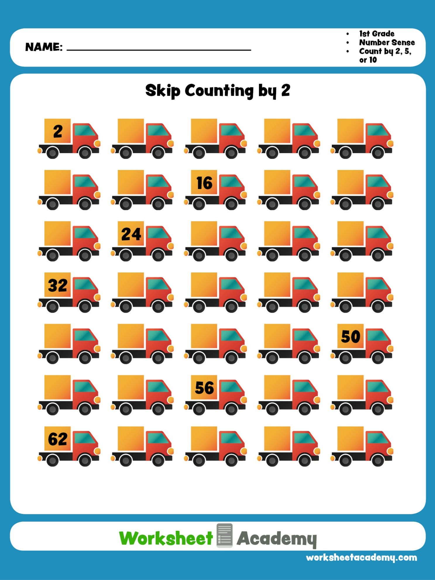 Help Your Student Master Skip Counting By Two This