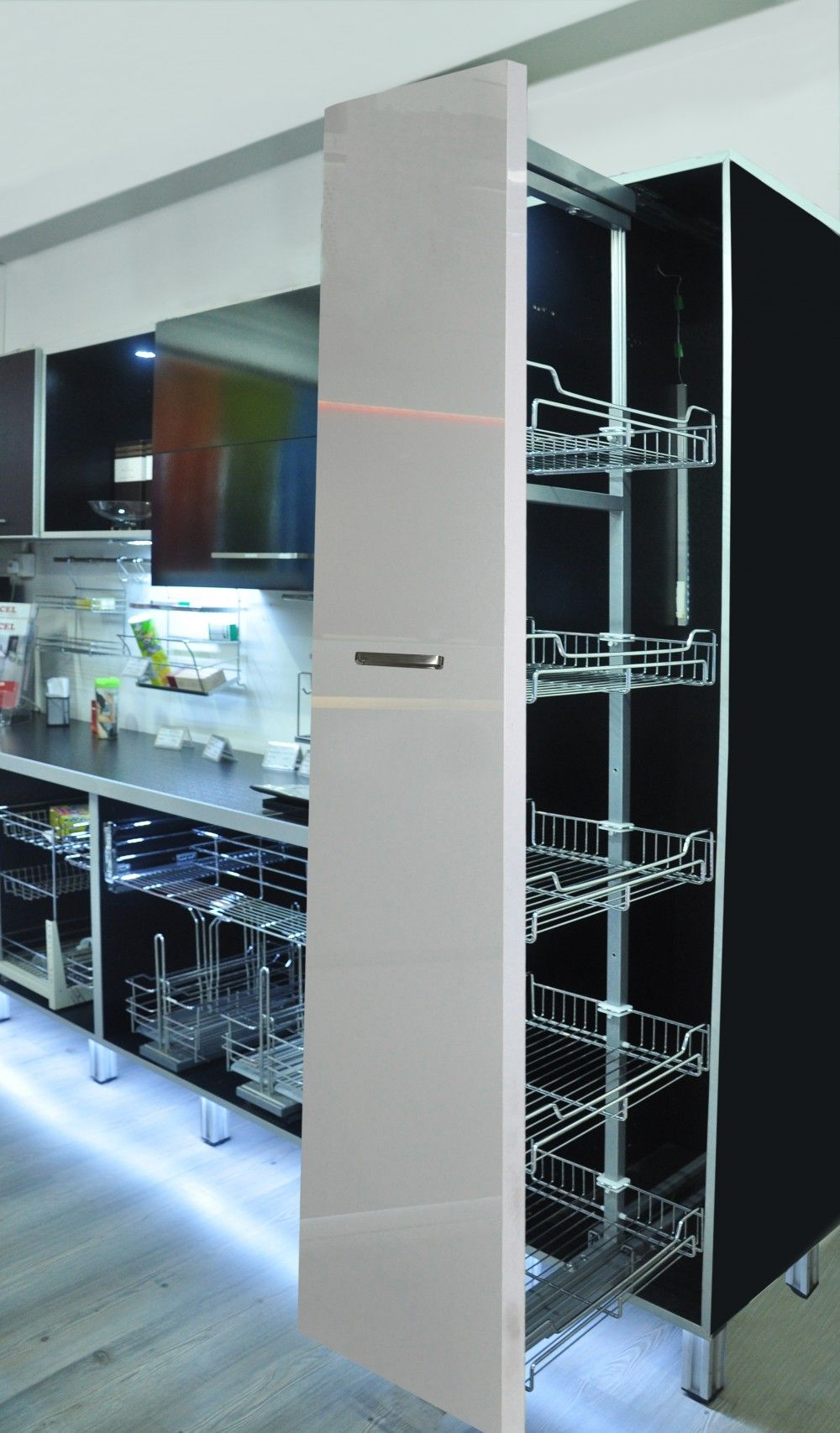 E005S-EXCEL SOFT CLOSING PULL OUT WIRE BASKET TALL UNIT SYSTEM ...