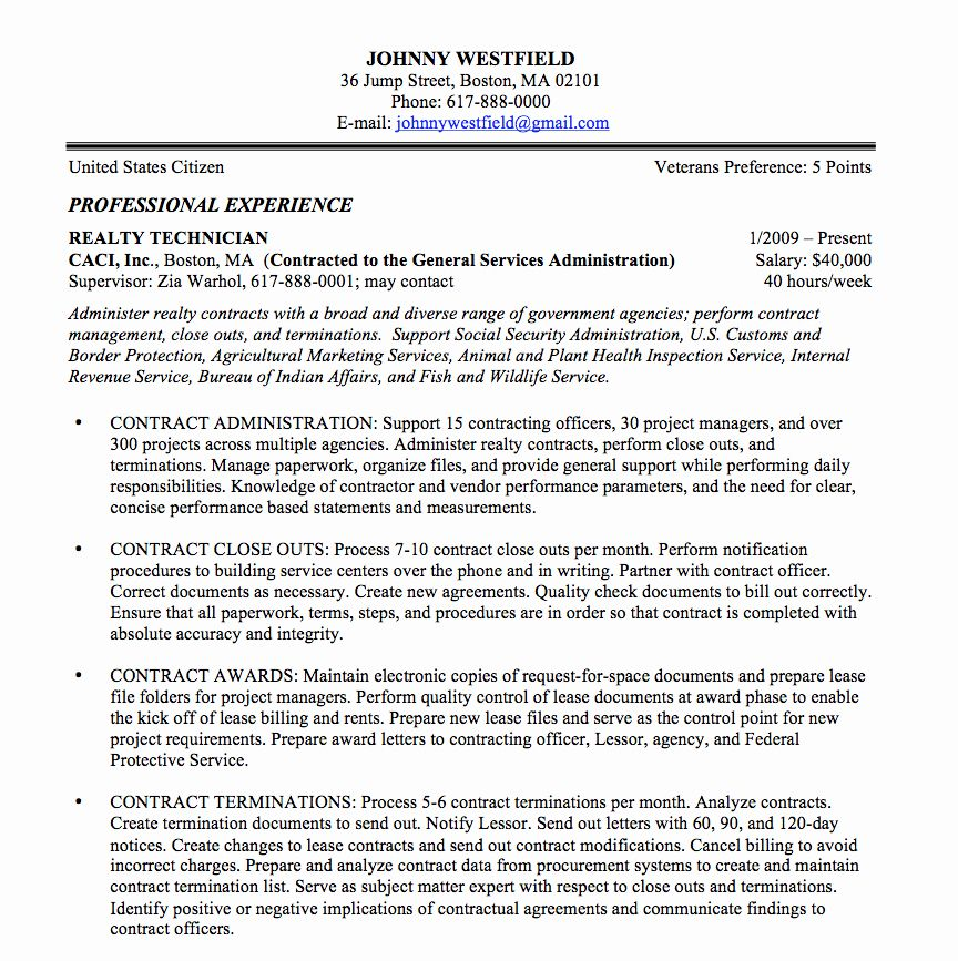 Resume In Paragraph Form Awesome Federal Resume Sample And