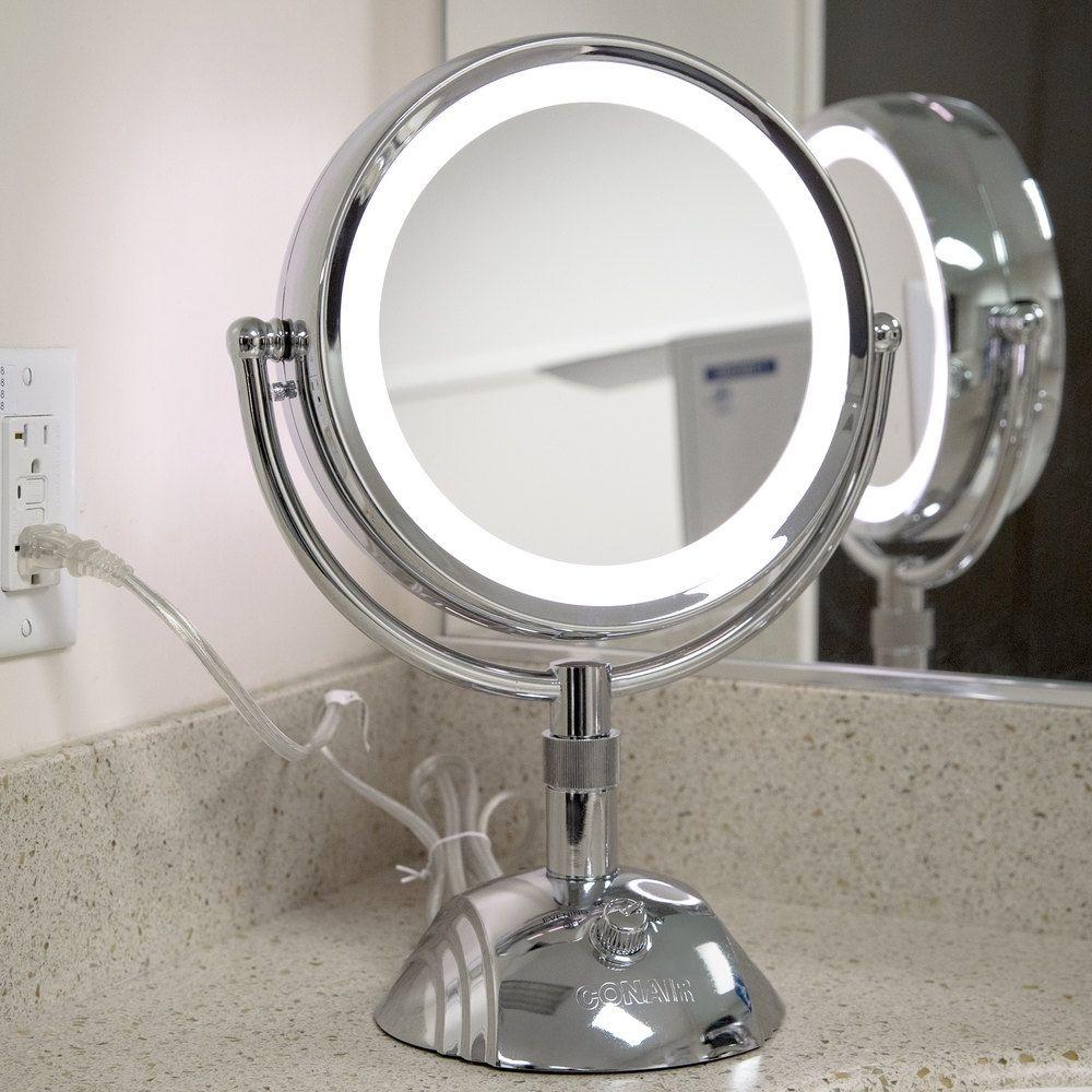 Conair Wall Mounted Lighted Makeup Magnification Mirror в