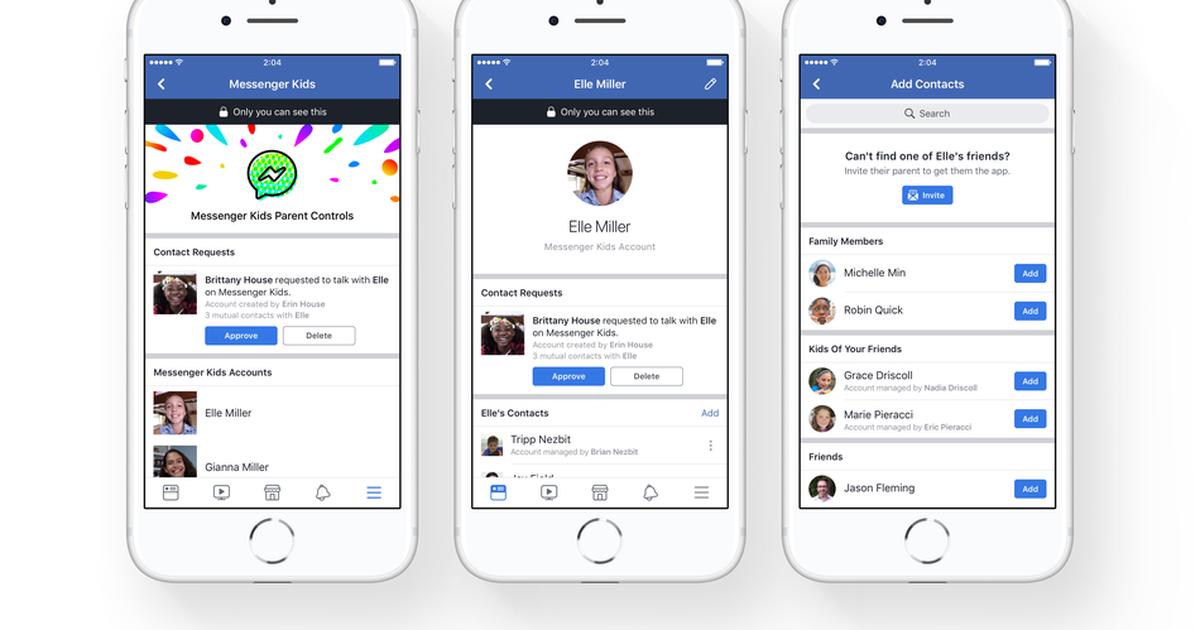 A 'technical error' in Facebook's Messenger Kids app let