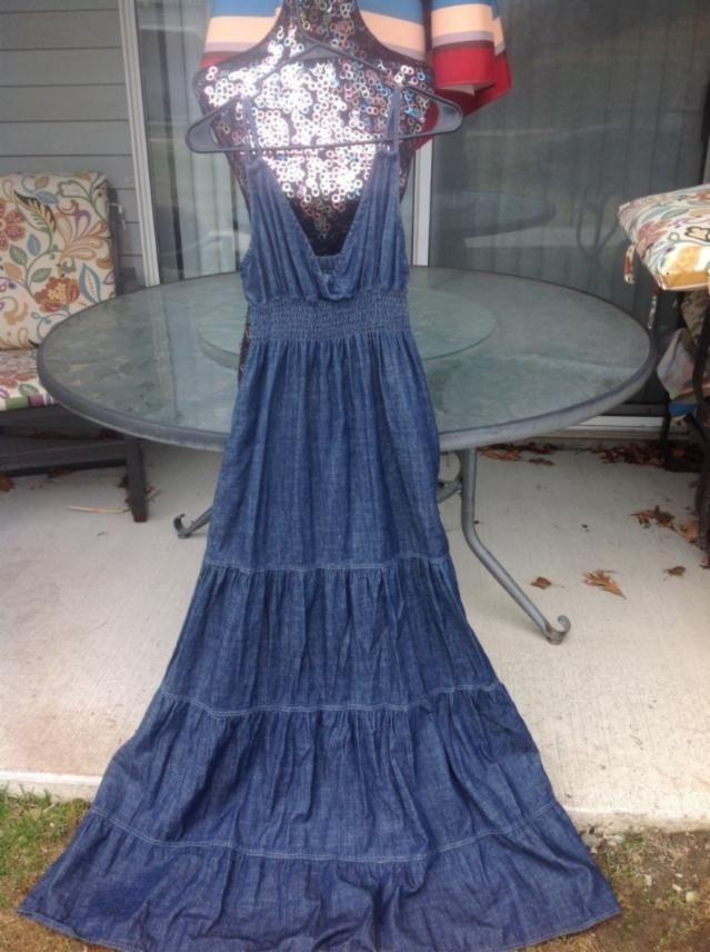 59c13290647ee DENIM Blue Asphalt Tiered Maxi Size M Maxi Dress. Free shipping and  guaranteed authenticity on DENIM Blue Asphalt Tiered Maxi Size M Maxi Dress  at Tradesy.