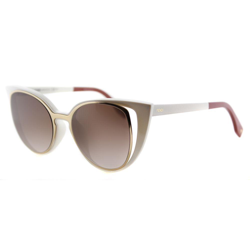 Fendi FF 0136 NZ2 Ivory And Gold Plastic, Gradient Lens Sunglasses