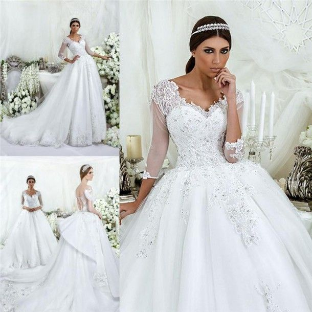 17c5ad2249 dress luxury wedding dresses a line wedding dressses crystal beaded wedding  dresses dubai wedding dresses illusion long sleeves wedding dress exquisite  ...