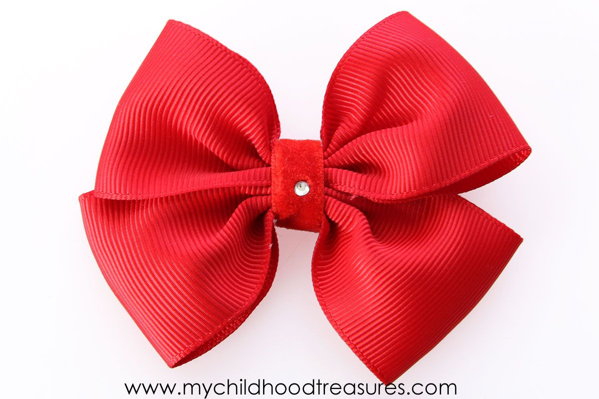 How to Make a Ribbon Bow - EASY Double Bow Tutorial #fabricbowtutorial
