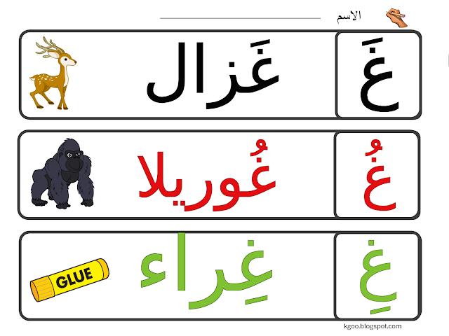 الحروف الهجائية مدونة الحضانة Arabic Alphabet For Kids Alphabet For Kids Blog