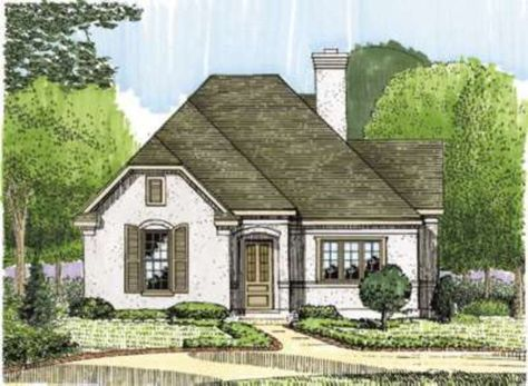 European Style House Plan 2 Beds 2 Baths 1649 Sq Ft Plan 410 147 French Country House Plans Cottage House Plans French Country House