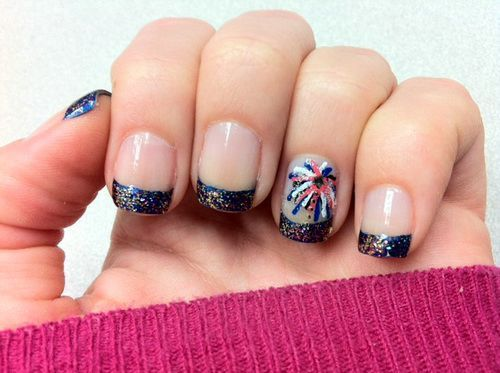 Fireworks french tip nails nail designs pinterest fireworks french tip nails prinsesfo Gallery