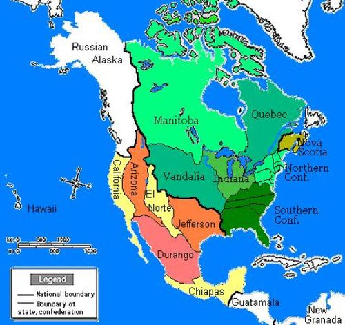 Great Moments In Alternate History The American Revolution - Alternate history us map