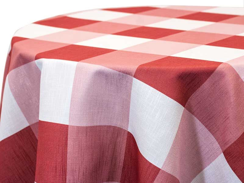 Big Plaid Clay Clay A Staple In All Things Plaid And With A Larger Scale Freshens Up The Classic Picnic P Custom Table Cloth Tablecloth Fabric Custom Print