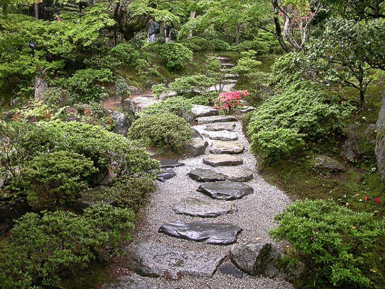 Japanese garden path, via 10 Elements of