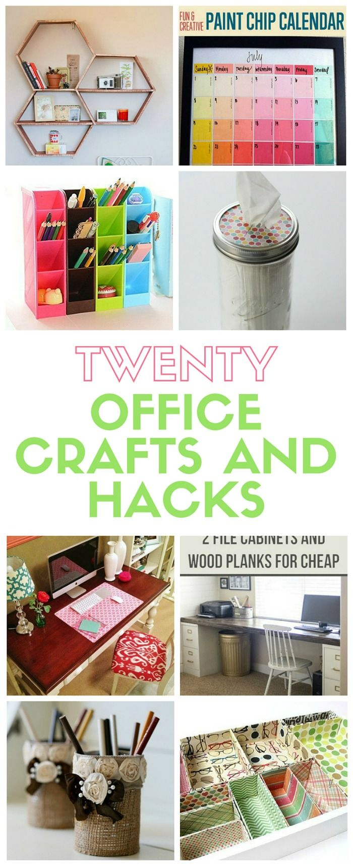 diy office space. 20 Office Crafts And Hacks Diy Space