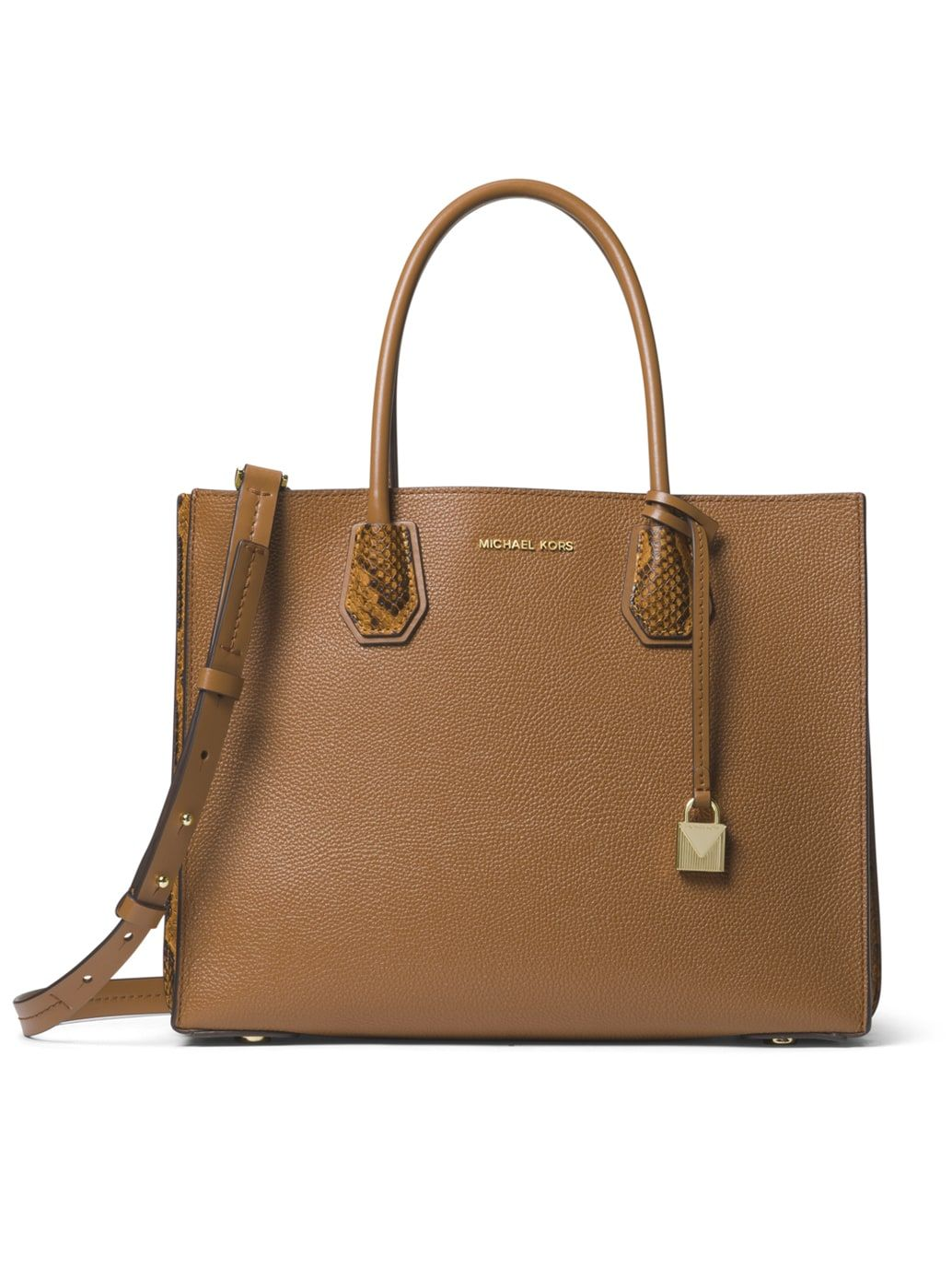 1906549974a8 Michael Kors · LG Mercer Pebbled and Embossed Leather Accordion Tote in Acorn  Pebbled Leather, Purse Wallet,