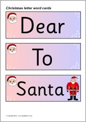 Letter to santa word cards sb3248 sparklebox christmas cheer letter to santa word cards sb3248 sparklebox spiritdancerdesigns Images