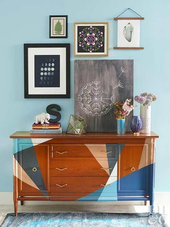 DIY ColorBlocked Dresser Transform an old dresser with