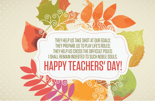 Happy Teachers Day 2017 Greeting Card In 2020 Teachers Day Wishes Teachers Day Card Happy Teachers Day Card