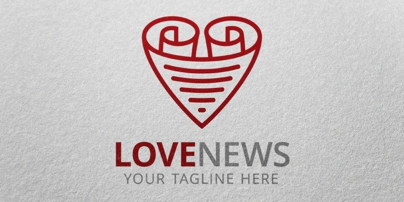 Love News - Logo Template | Pinterest | Logo templates, Template and ...
