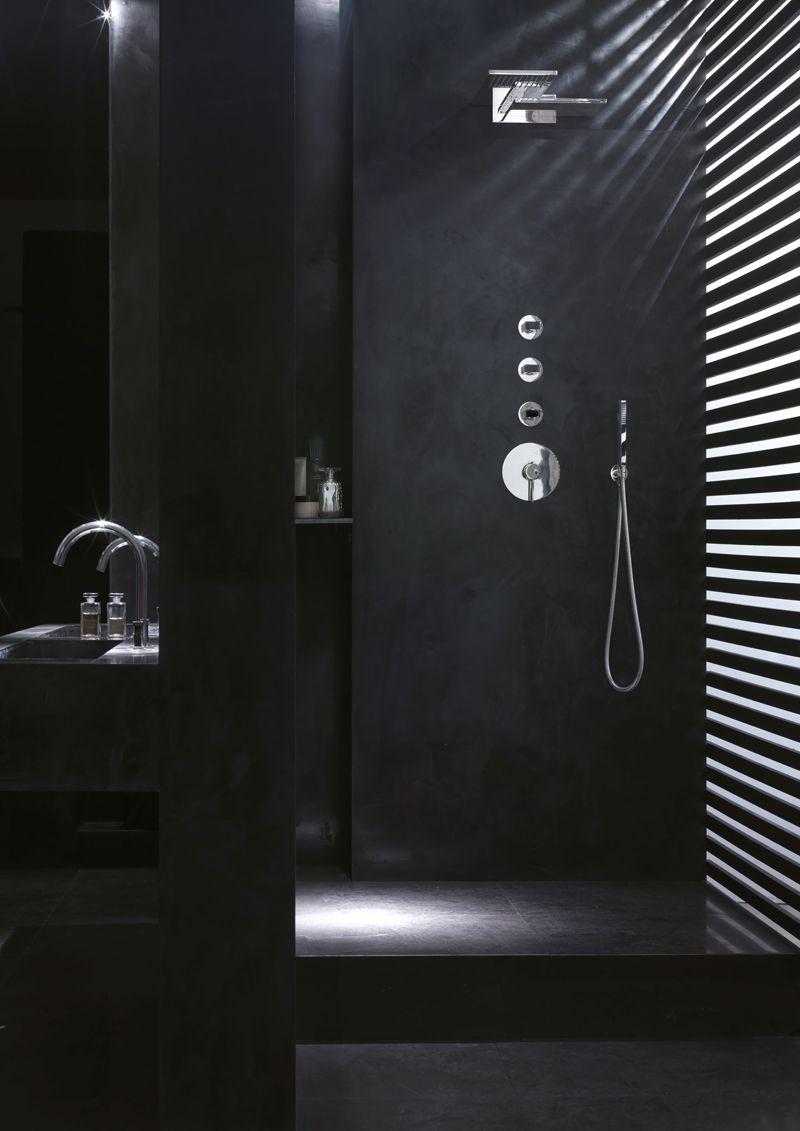 Pin By Mark On Bathrooms Black Bathroom Bathroom Design Black Minimalist Bathroom