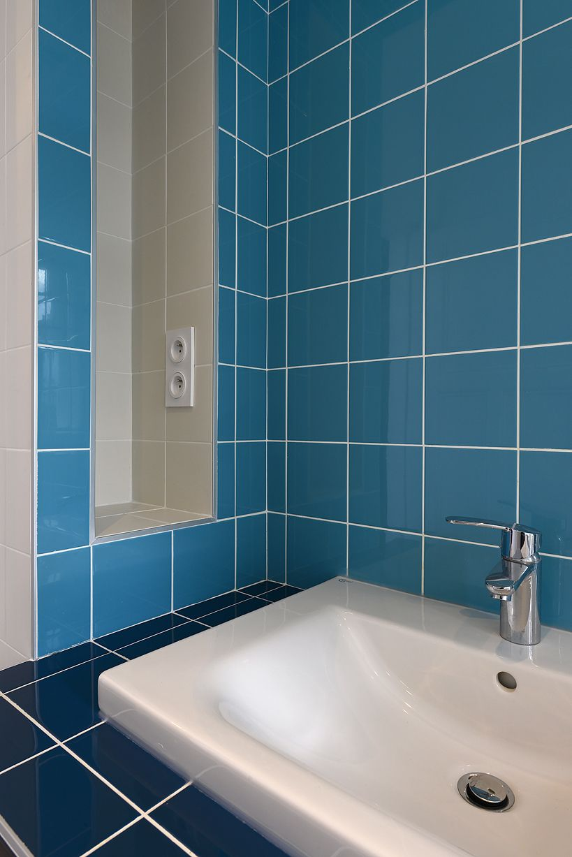 #blue #salledebain #décoration credit photo : N.Fussler