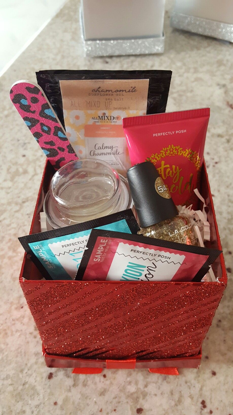 perfectly posh christmas gift baskets message me for more info http