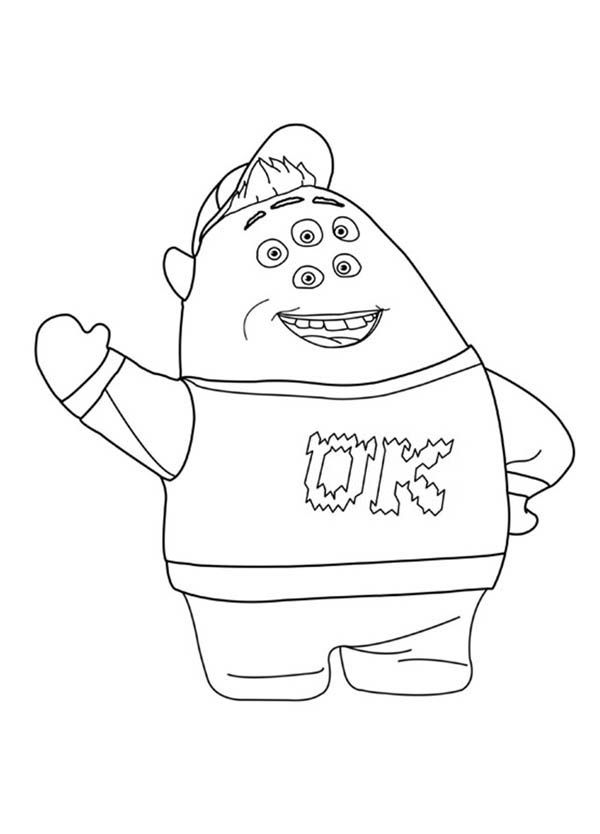 Scott Squishy Squibbles In Monsters University Coloring Page